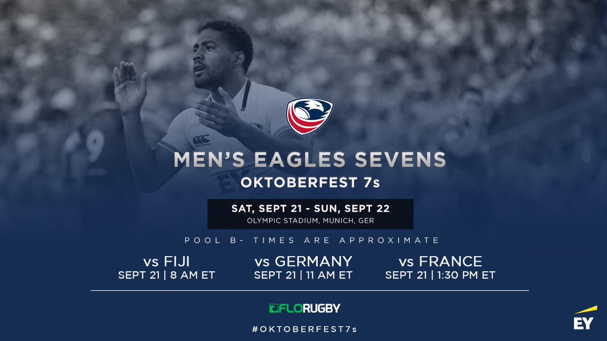 Goooooooood morning! Rise and shine, 15 minutes until the Eagles open the #Oktoberfest7s against @fijirugby. Dont forget that you can watch live on @FloRugby 🏉 #EaglesUnited #USMNT7s