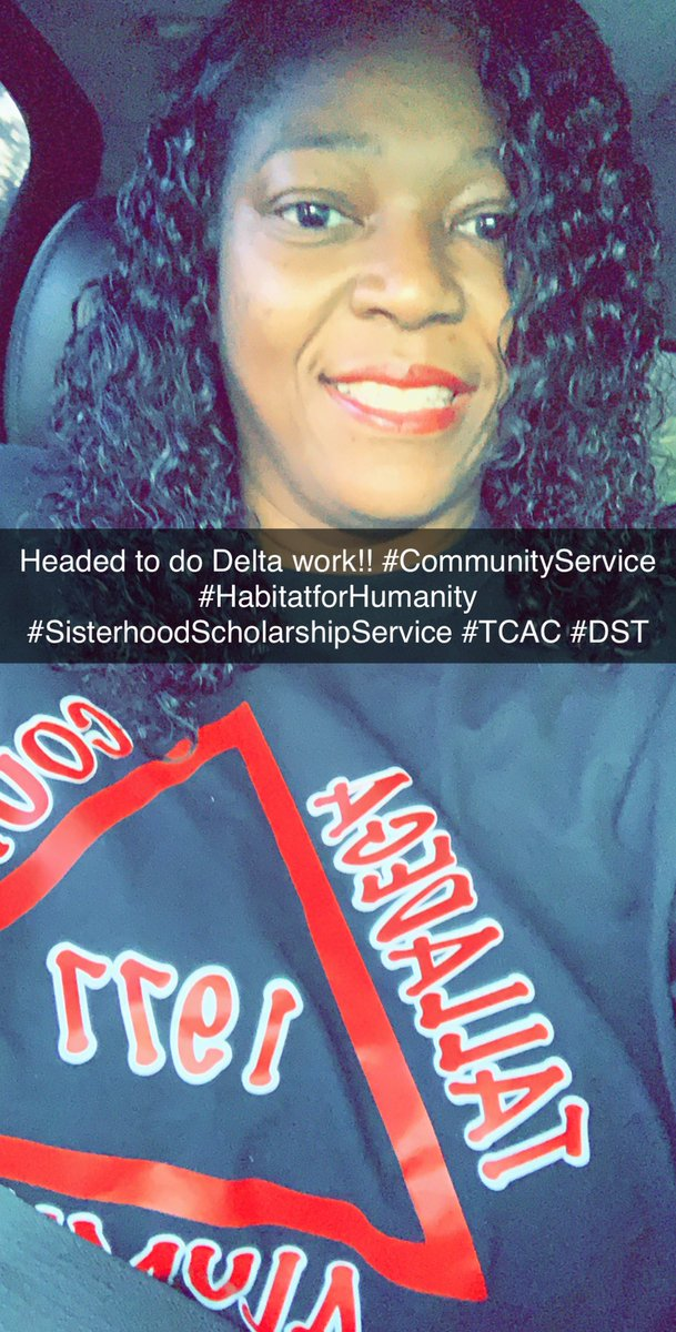 I only smile at 6AM when I'm doing what I love! Headed to do community service with my lovely Sorors of the Talladega County Alumnae Chapter of Delta Sigma Theta Sorority, Inc!!! We are helping to prepare a Habitat for Humanity home for a deserving family! #ServiceInOurHeart <br>http://pic.twitter.com/7BhrwPZoRs