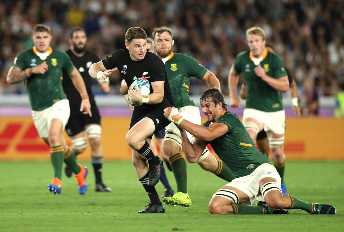 test Twitter Media - Defending champions New Zealand beat South Africa 23-13 in their much-anticipated Pool B match in Yokohama: https://t.co/kAPO0UCu6p #NZLvRSA  #RWC2019 https://t.co/WReDQzJ03i