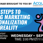 Sign up for Wednesday's live session with Acquia Chief Marketing Officer Lynne Capozzi, Mautic VP of Marketing Katie Staveley, and CMI's Peter Loibl.https://t.co/QmjALq6z2J#webinar #contentmarketing #personalizedmarketing