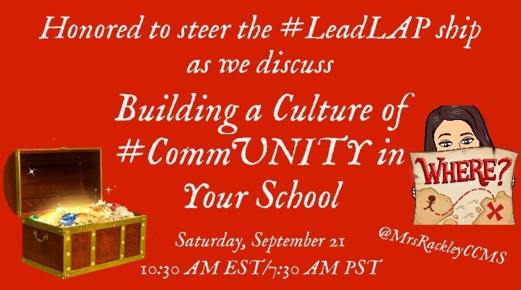 Hope you can join us from 9:30-10:00am CST as @MrsRackleyCCMS hosts #LeadLAP @burgess_shelley