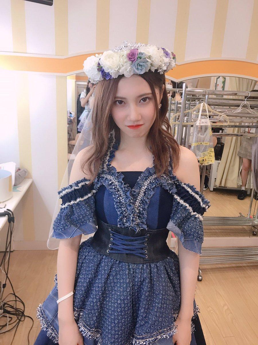 #北川綾巴劇場最終公演 一生憧れの人、そして一生の推しメン。世界で1番可愛くて美しい人です💜💙大好きって一言であらわせれないし、大好き過ぎて困ります。卒業おめでとうございますかのがたまんなく好きな昔綾巴さん💗