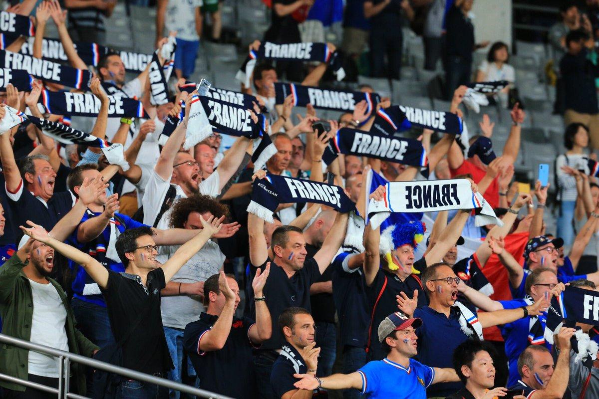 🇫🇷🙏🏻 Un grand merci à tous les supporters présents aujourd'hui au Tokyo Stadium ! Merci d'avoir poussé derrière votre équipe ! 👊🏻 #NeFaisonsXV #XVdeFrance #FRAvARG #RWC2019