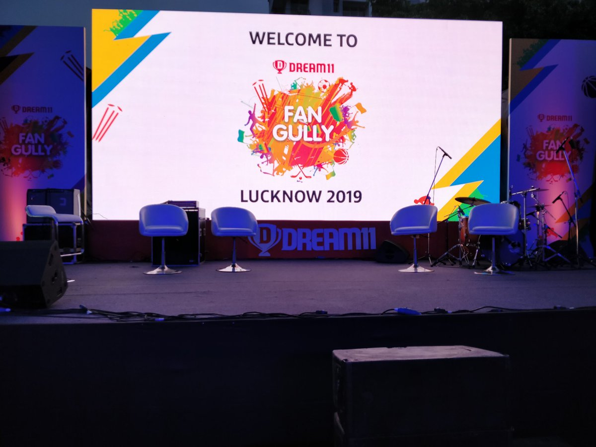 Here we go! The #FanGully2019 is on! Can't wait for @harbhajan_singh to be here!