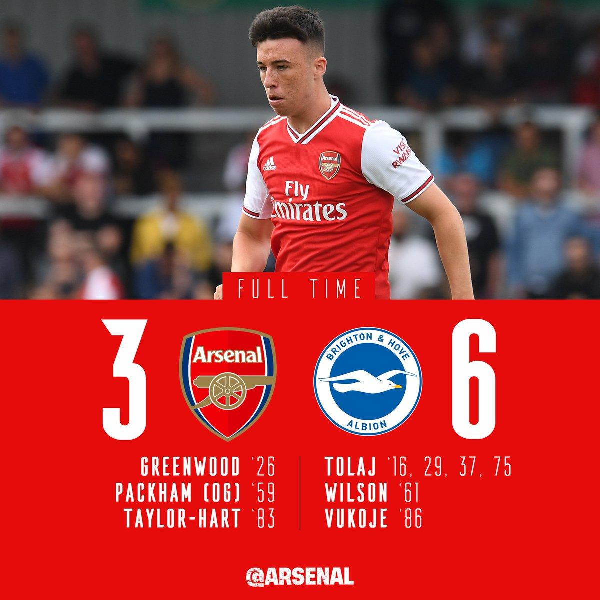#AFCU18 suffer defeat at Colney despite goals from @Sam_Greenwood9 and Taylor-Hart 😩
