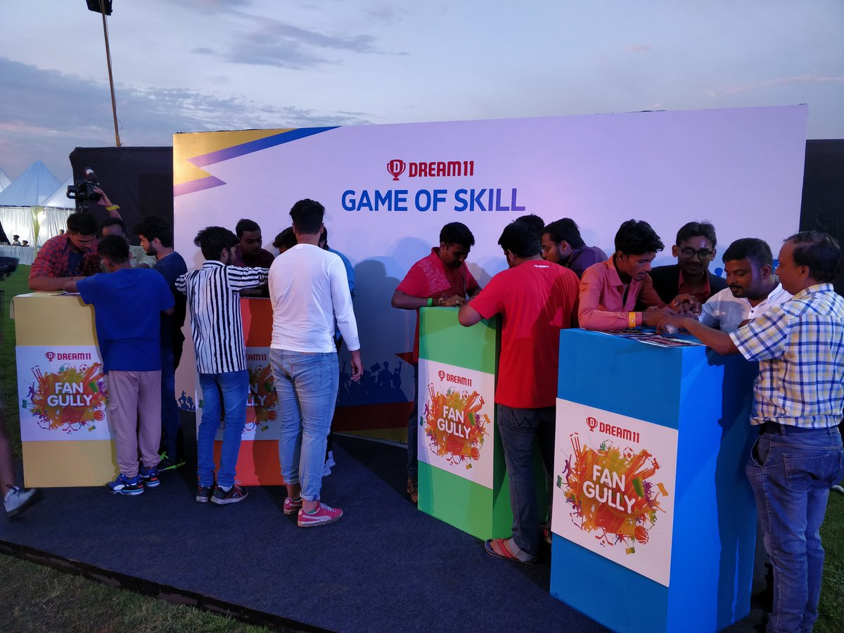 Skill is what we live by! The Game Of Skill is underway. #FanGully2019