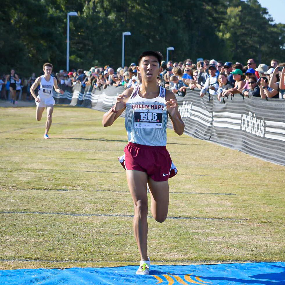 15:10 for Green Hopes Thomas Vo! 6th fastest mark ever at #aXCC and new @GHFALCONS school record!  📸 @DLoughlinPhoto