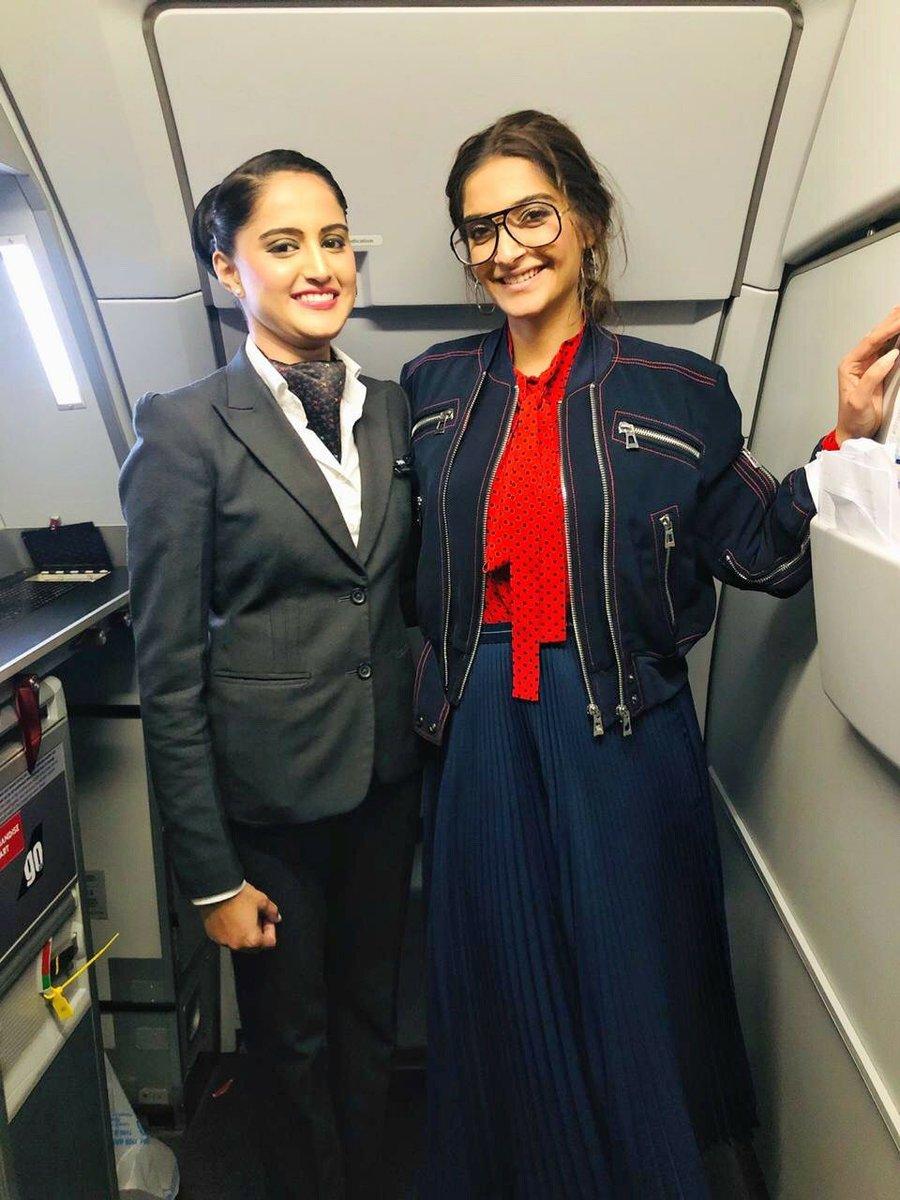 We were lucky to have had India ki lucky charm @sonamakapoor on-board!