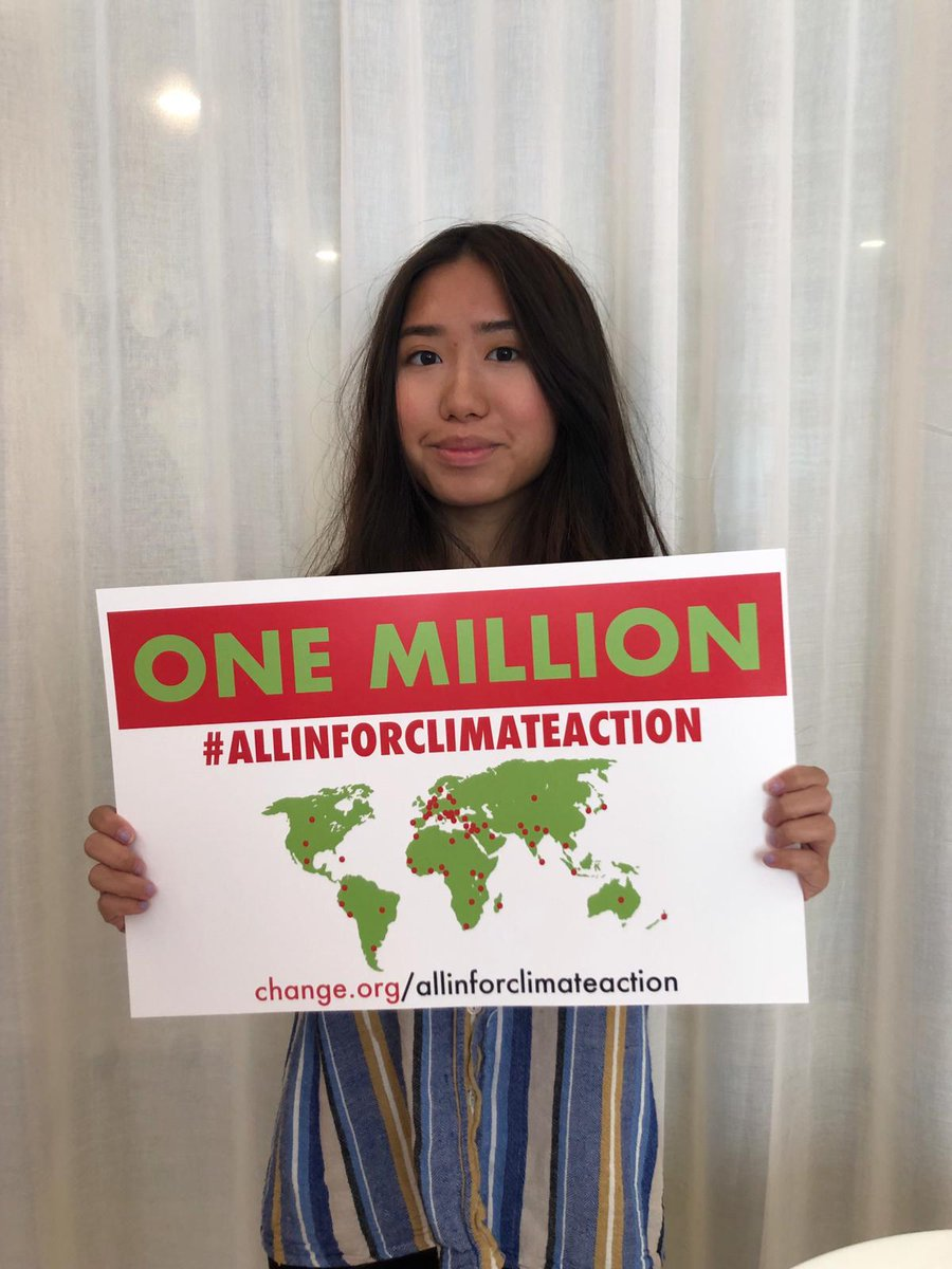 Cynthia is a Brooklyn high school student who joins climate advocates from around the world to represent more than 1 million people demanding world leaders go #AllInforClimateAction at the UN Climate Summit.