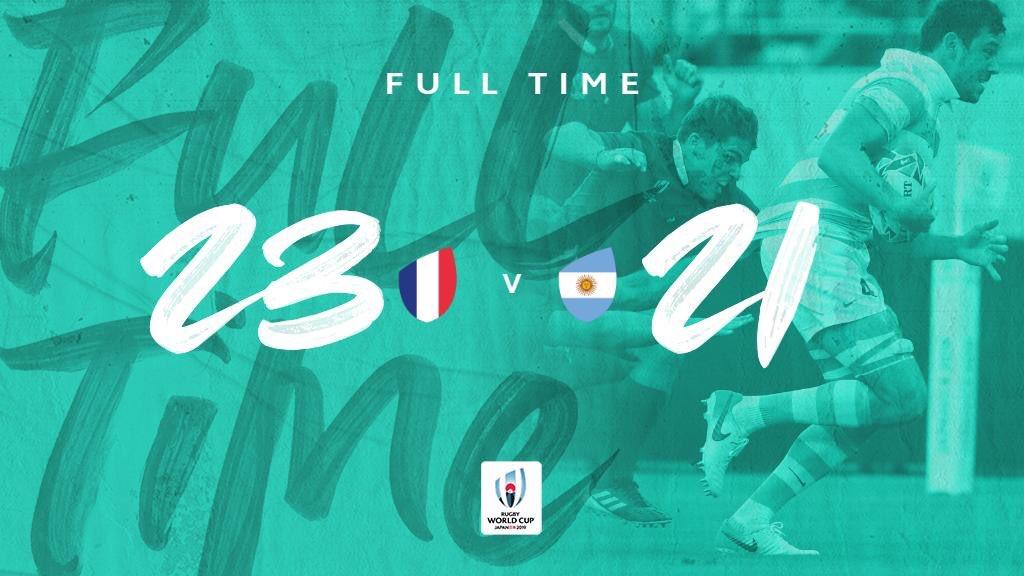 #RWC2019 | Por el Grupo C, Francia se impuso ante Argentina en Tokio #FRAvARG #WebbEllisCup #RWCTokio