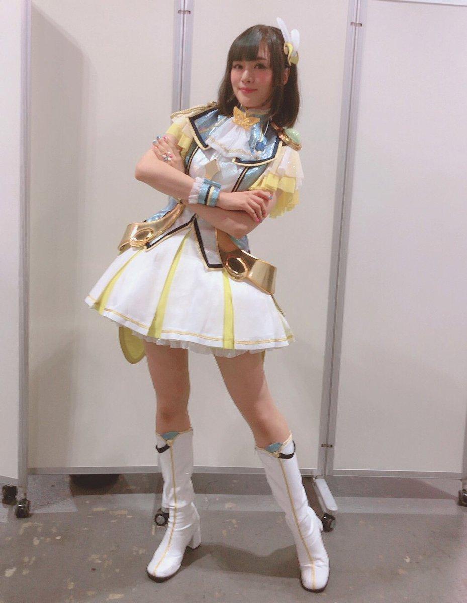 SSA公演DAY1終了いたしましたっ!ありがとうございました୧(ᕯ˙ᗨ˙ᕯ)୨めっっちゃくちゃ楽しかったです!無事、ボールがプロデューサーのもとへ戻りましたね⚾️また、どこかで…!ルミエールパピヨン、昴はスカート♡#imas_ml_6th