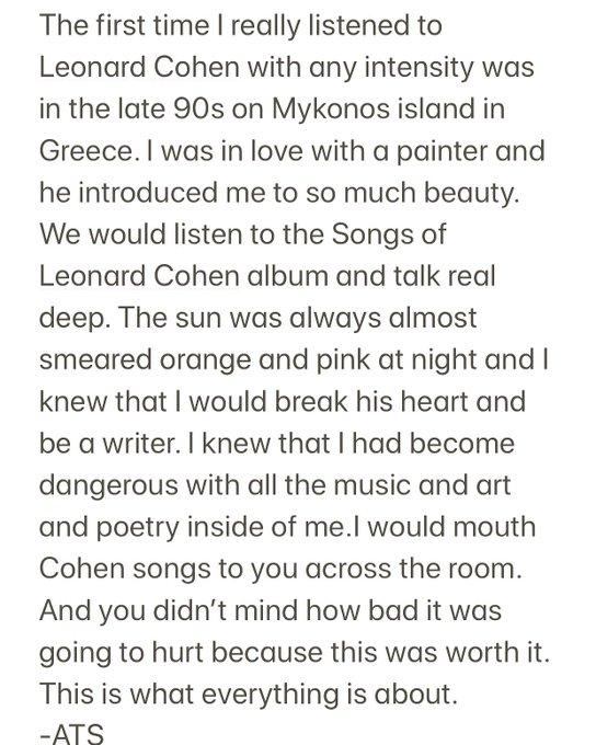 Happy birthday, Leonard Cohen.