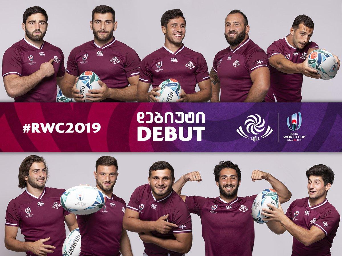 10 from Georgia's match-day-23, Soso Matiashvili, Mirian Modebadze, Giorgi Kveseladze, Tedo Abzhandadze, Beka Gigashvili, Beka Gorgadze, Guram Gogichashvili, Otar Giorgadze, Beka Saginadze and Gela Aprasidze - to have #RWC2019 debut against @WelshRugbyUnion #WALvGEO