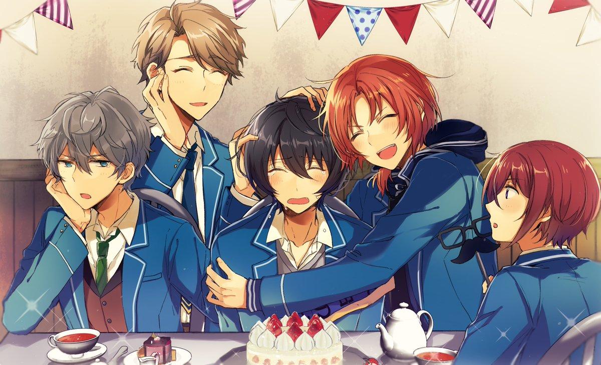 凛月くんお誕生日おめでとうございます!Knightsでお祝い~🎂#朔間凛月誕生祭2019