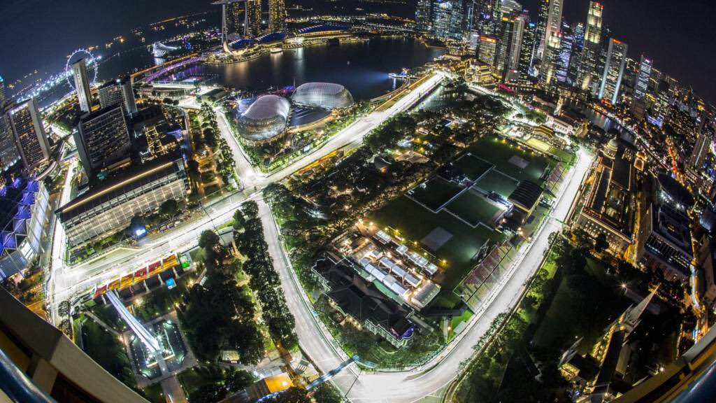 One more week until Singapore; Red Bull's best chance for another victory this season!  Will Verstappen win? Will Leclerc make it 3 in a row? Will Albon make his first podium?  Comment below your Podium Prediction! 📣🏎 #F1 #SingaporeGP