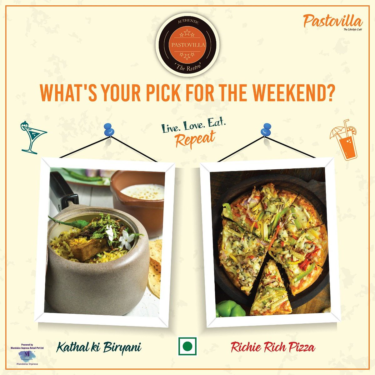 Weekend must be flavorful and spicy! Choose your love: Lazeez Biryani or Our all time fav 50-50 Pizza?#zingyzest #mumbaifoodblogger #mumbaifood #mumbaifoodie #trellingfood #mumbaifoodicious #munchymumbai #trellfood #foodtalkindia #pastovilla #thelifestylecafe #healthy