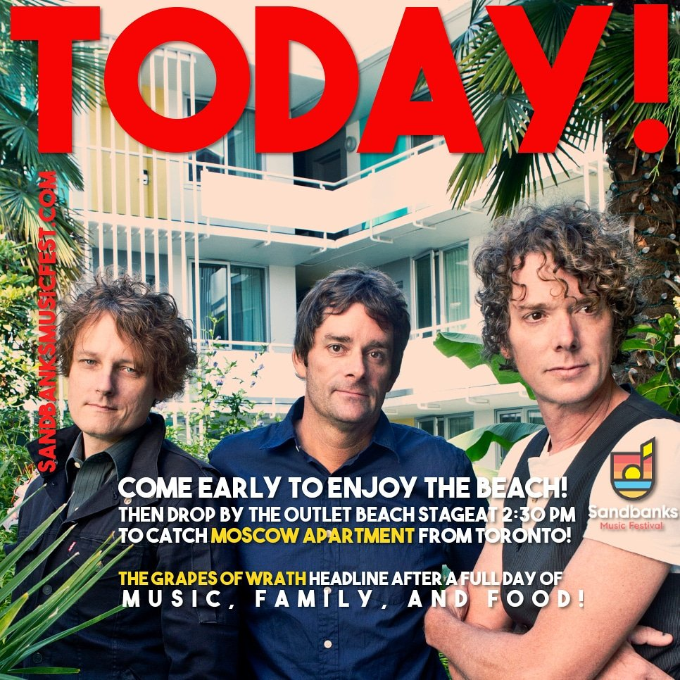 See you at 2:00 pm on the Outlet Beach stage at Sandbanks Provincial Park!   http://www. sandbanksmusicfest.com      #PEC #musicfamilyfood<br>http://pic.twitter.com/TRn1Lgg87c