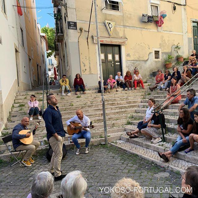 test ツイッターメディア - リスボン、アルファマ地区でのストリートファドライブ。 ファドはユネスコの無形文化財に指定されているポルトガル民族歌謡です。 #リスボン #ポルトガル #ファド https://t.co/Mf2dyx0oPU