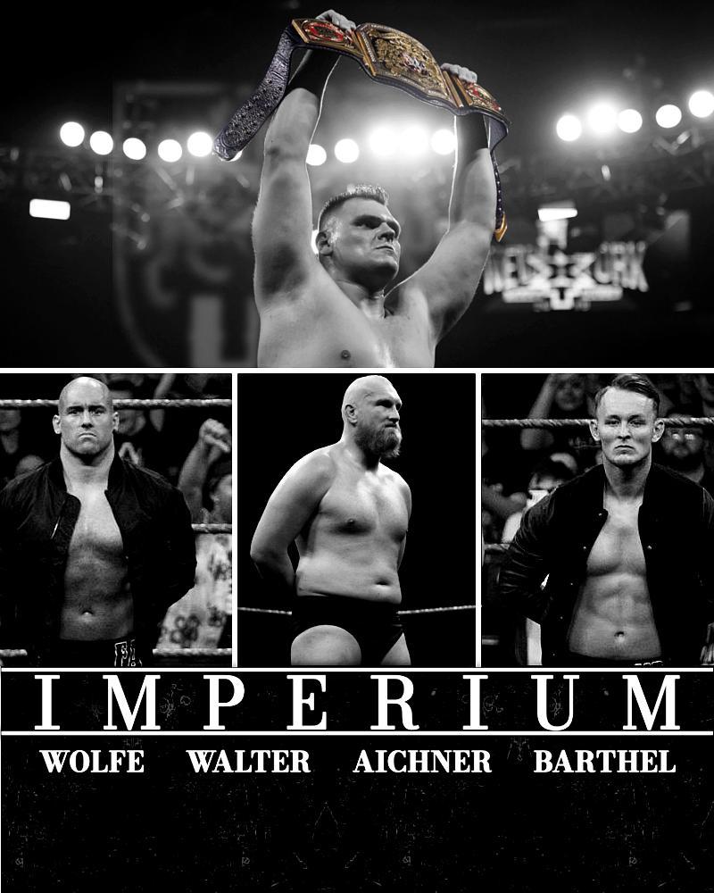 N X T  U K' S  I M P E R I U M.- @WalterAUT- @TheWWEWolfe- @FabianAichner and @Marcel_B_WWE.[Credit for Imperium Logo : @RageTrons]#WWEFanArt #NXTUKTakeover#NXTUK #IMPERIUM