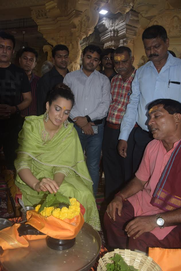 In pictures: Actress Kangana Ranaut visits Somnath temple in Gujarat