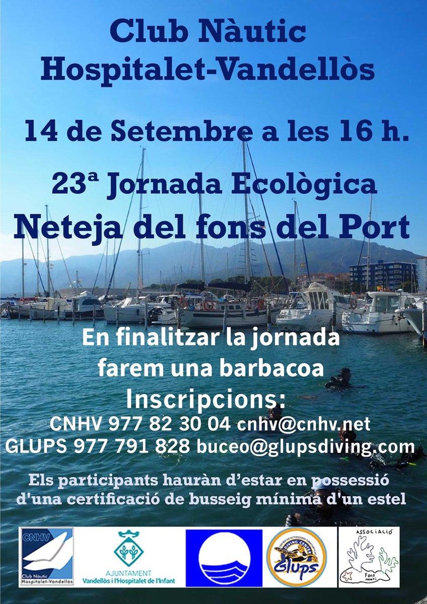 ‼️ La 23a Jornada Ecològica s'ha ajornat fins al proper dissabte, a causa de la inestabilitat del temps, segons ha informat el Club Nàutic.