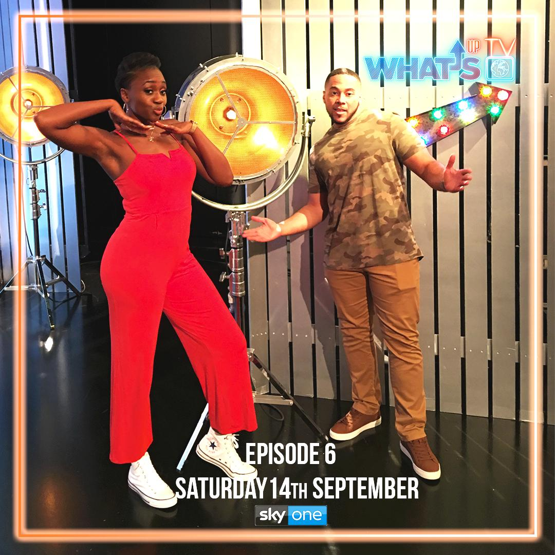 How time flies! Tune in to @SkyOne today to catch episode six of #whatsuptv today at 10am ft comedy from #theguiltyfeminists' @DeborahFW , the musical duo @YoungTandBugsey and much more! #prowrestling #deborahfranceswhite #youngtandbugsy  #whatsuptv #skyonepic.twitter.com/LXZfaIZBKt