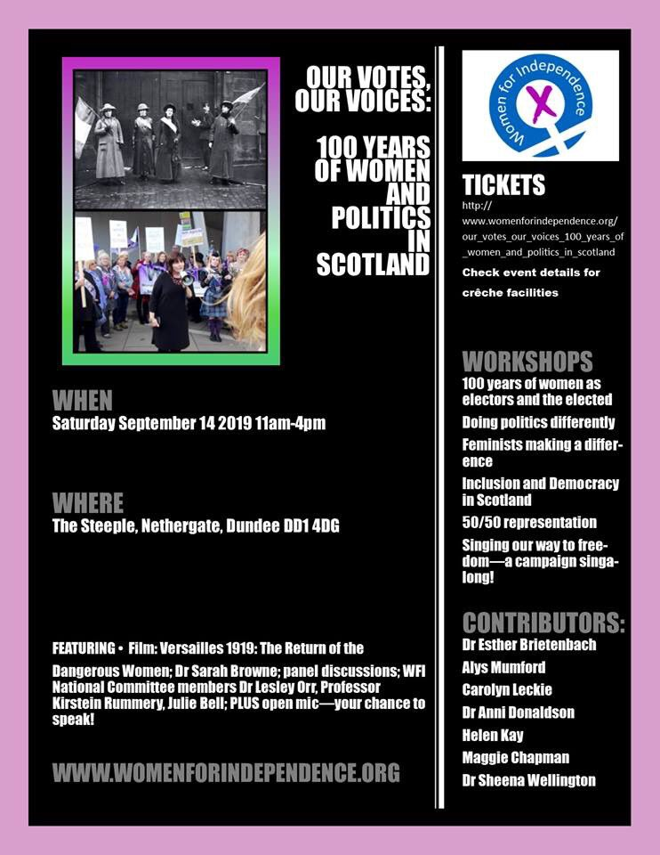 Off to Dundee today for the @WomenForIndy #OurVotesOurVoices event where I'll be talking about my experiences as a #WomanInPolitics. Looking forward to sharing with & learning from other fab women. pic.twitter.com/XEttBzhgmA