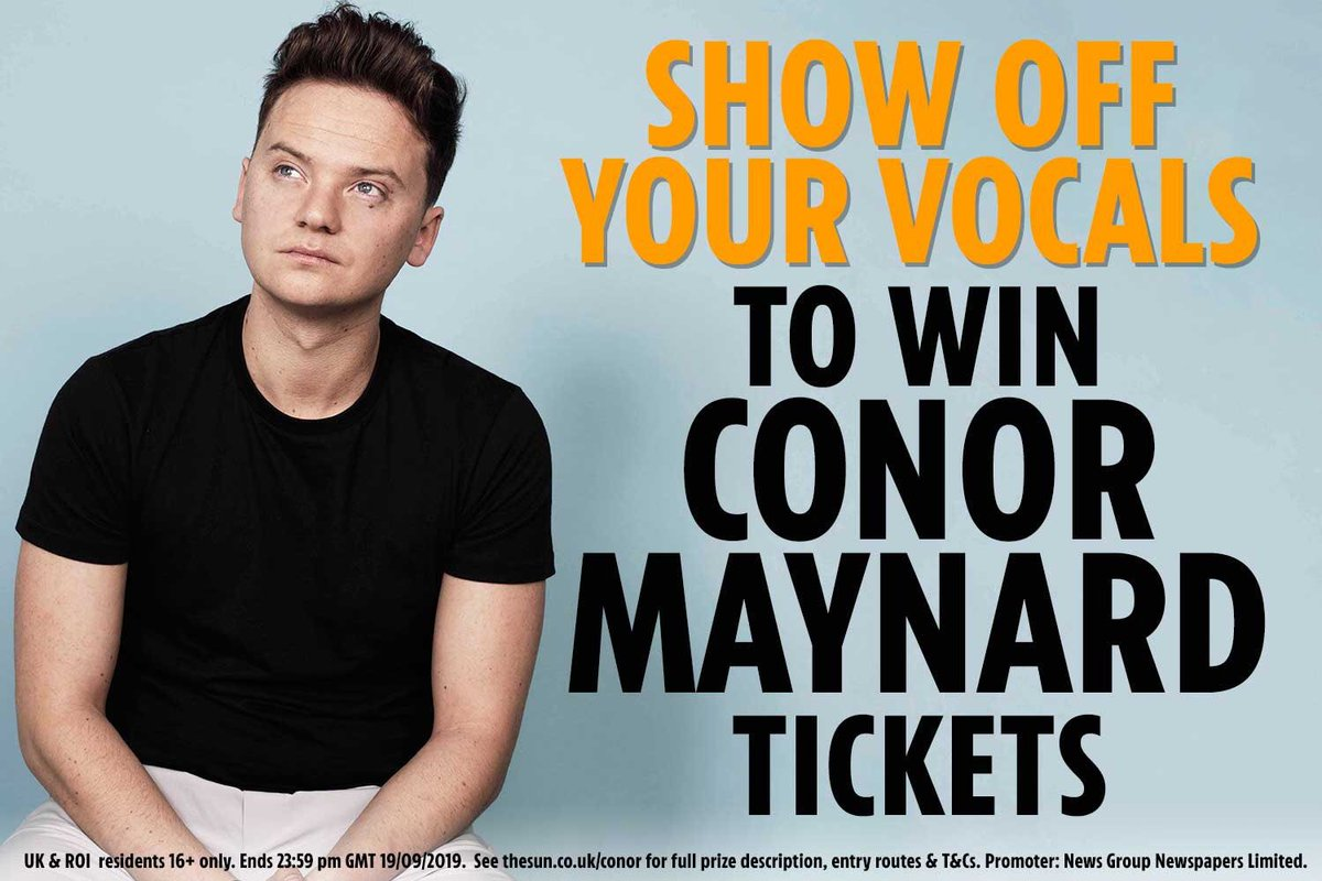 Calling @ConorMaynard fans, this is your chance to show off your best cover AND win a pair of tickets to his October 24 show in London. All you have to do is tweet a short clip of yourself covering a Conor song with #SingForConorTickets. <br>http://pic.twitter.com/4HWfdUIeGI