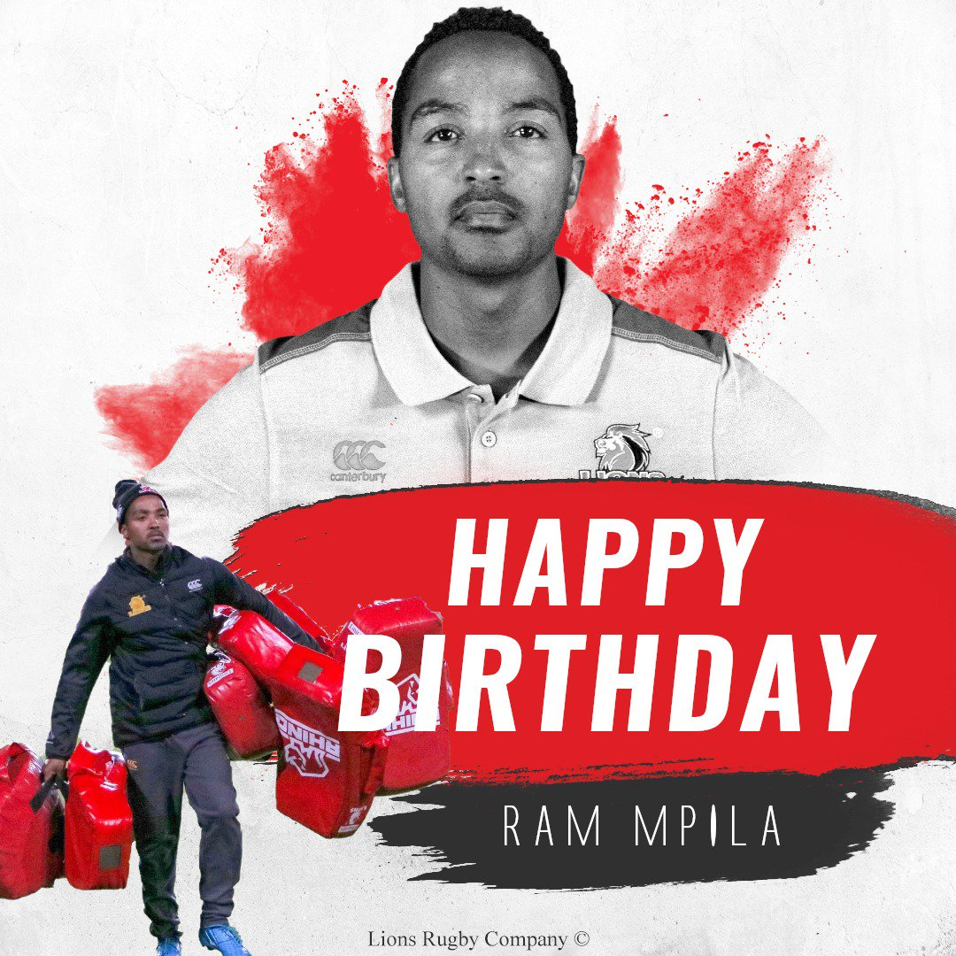 Happy birthday to Lions massage therapist, Ram Mpila! We hope you have the best day. #LionsPride