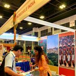 Image for the Tweet beginning: India Tourism, Singapore is participating