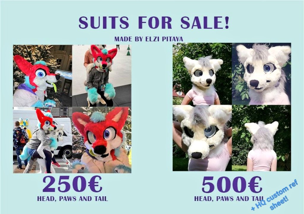 SELLING TWO FURSUITS!  - will fit everyone with head circumference of 60-80cm!  - white husky is made in August and only worn for photos! Comes with custom ref sheet by @DinskiArt! puffy paws and tail included!  - red fox is used but in good condition!  PM me if interested!<br>http://pic.twitter.com/F2Nz2BT4HE