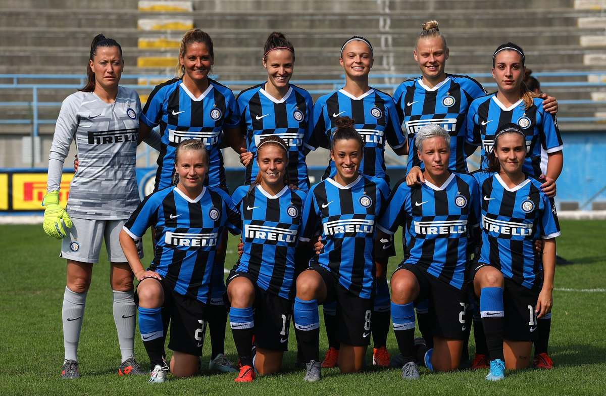The first @Inter_en side to play a women's Serie A match - they drew 2-2 with former #UWCL semi-finalists Verona🇮🇹