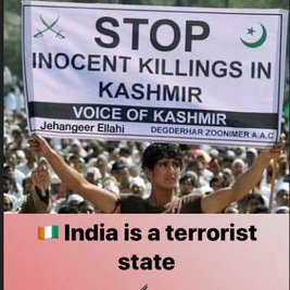 #42DaysCurfew In Shutdown And Occupied Kashmiri #StopKillingAndTorturing Kashmiri Women And Children #UnlockKashmirToBreath  https:// twitter.com/SoStarMusic/st atus/1172781572833128448   …  <br>http://pic.twitter.com/NnYqotdDrh