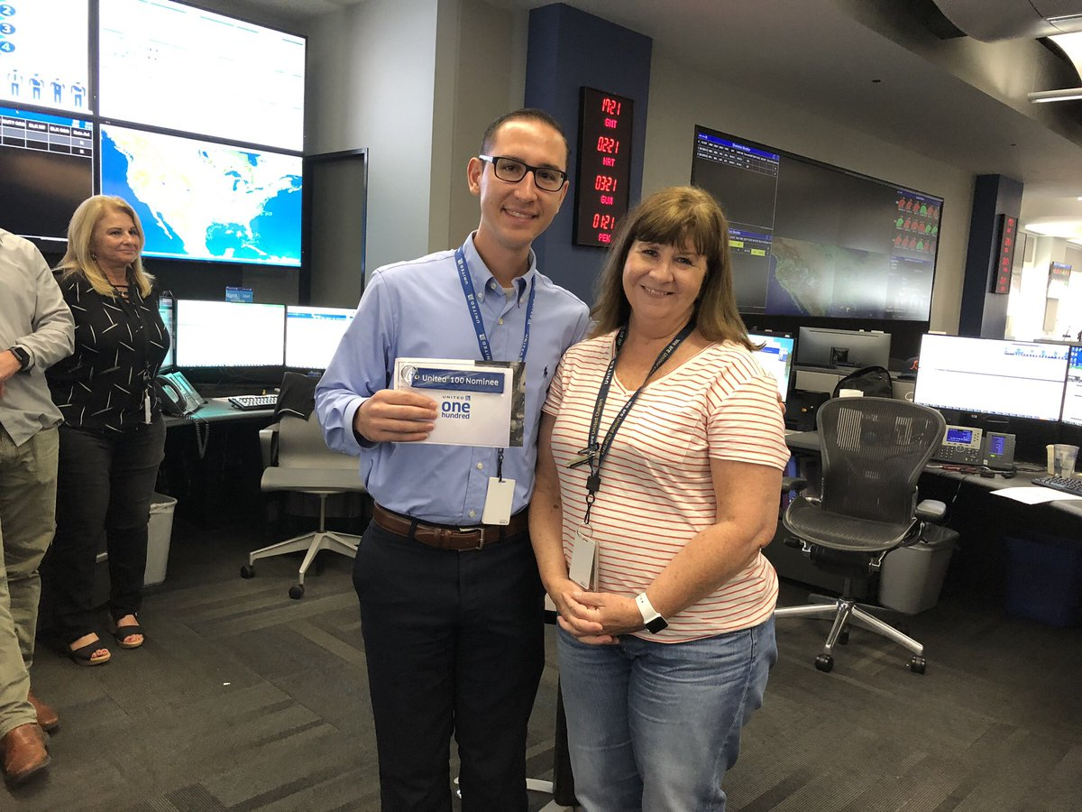 Jeanne sharing her UA 100 nomination about Michael. Michael was able to help team ALB with an international diversion. He was able to get pizzas delivered, busses ordered while juggling several issues. Congratulations Mike, well deserved @weareunited