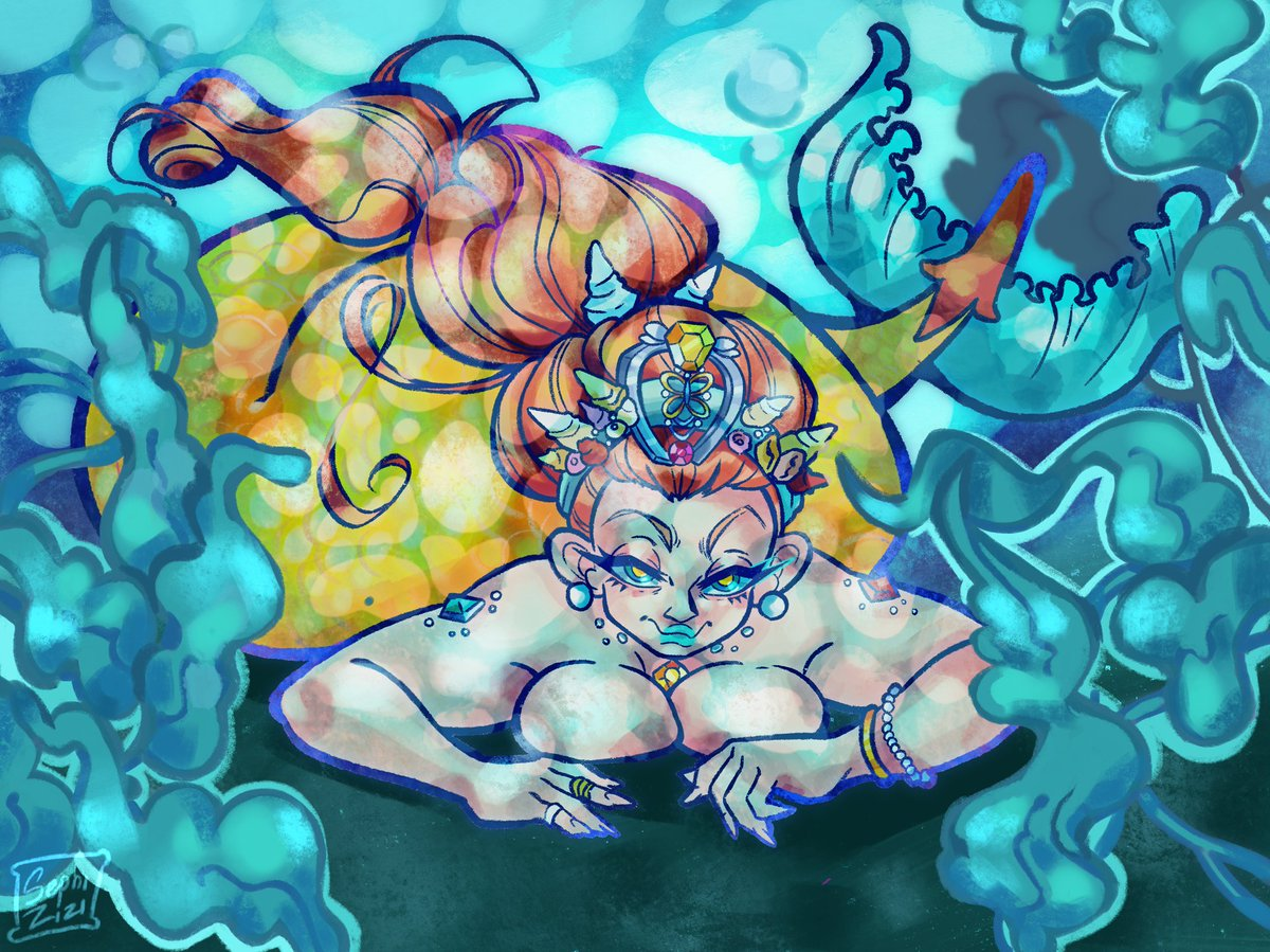 the only mermaid for a mermay... gee #art #digitalart<br>http://pic.twitter.com/w33kIp14bh