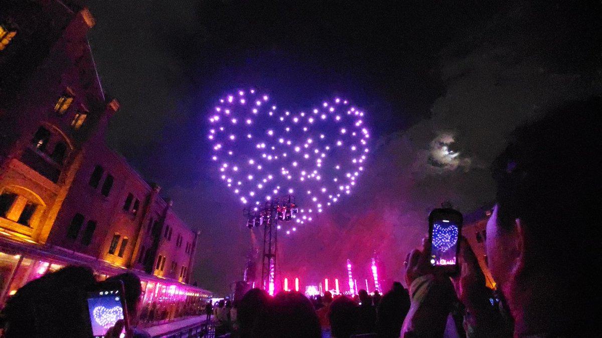 test ツイッターメディア - 凄いモノを目撃してしまった! これが最新技術のエンターテイメントか。夜空一面に広がる数えきれないドローンとダンスの融合。まるで宇宙と交信して来た気分です。最高だったー  #インフィニティボール  #theinfinityball #赤レンガ倉庫  #ドローン #横浜音祭り #横浜 https://t.co/84ymH7QIew