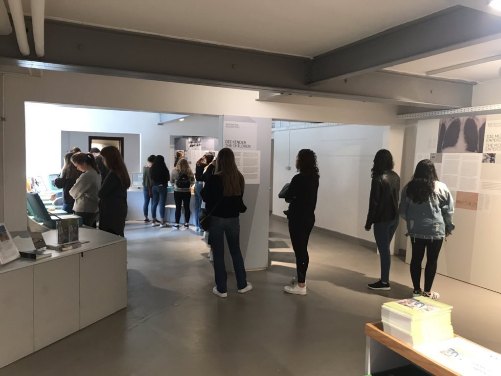 """Today 27 students from USA studying Politics were visiting Bullenhuser Damm. They have a semester abroad in Kopenhagen with """"DIS · Study Abroad in Scandinavia"""" . Thank you for your visit keeping the memory alive."""