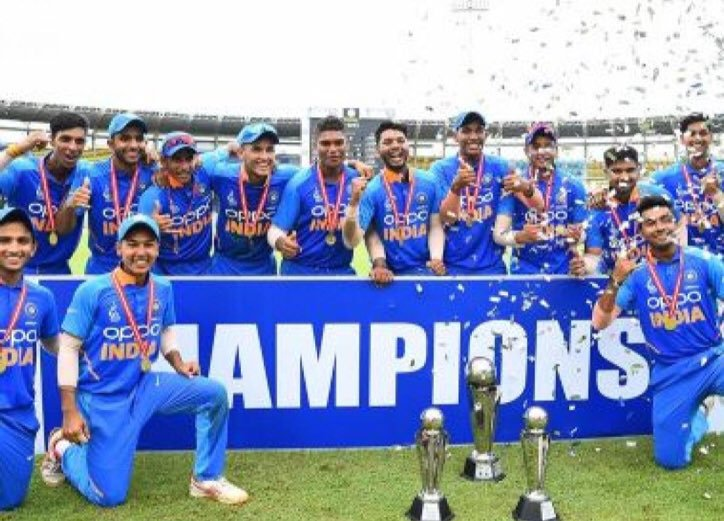 CHAMPIONS!🇮🇳👍CONGRATULATIONS #TeamIndia 🇮🇳Indian U19 Cricket Team Beat Bangladesh U19 Cricket Team By 5 Runs In a Nail-Biting Final To Lift The U19 #AsiaCup 2019!#AsiaCupU19 #INDvBAN #BANvIND#Cricket #Sports #SpiritOfCricket #KheloIndia #TeamIndia