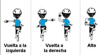 Ciclista valore su vida, realice movimientos con sus manos para indicar la dirección a girar. #SeguridadVial