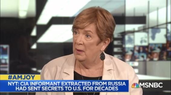"""Jonna Mendez: Now that this has blown up in the press... all of a sudden Putin who could have plausibly said """"Oh that guy was nothing, he had no clearances. He was a drunk, we fired him""""... my sense is Putin is feeling an obligation to step forward. We have poked the bear. #AMJoy https://t.co/X4aS8QTUwe"""