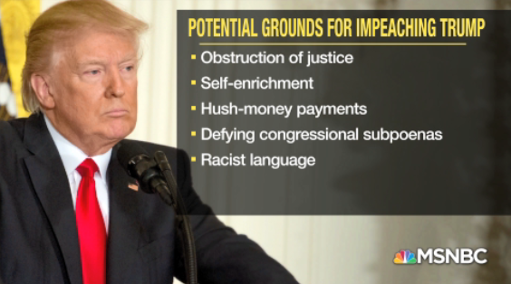 Allegations surrounding potential grounds for impeaching #Trump #AMJoy https://t.co/7DCPpatIt2