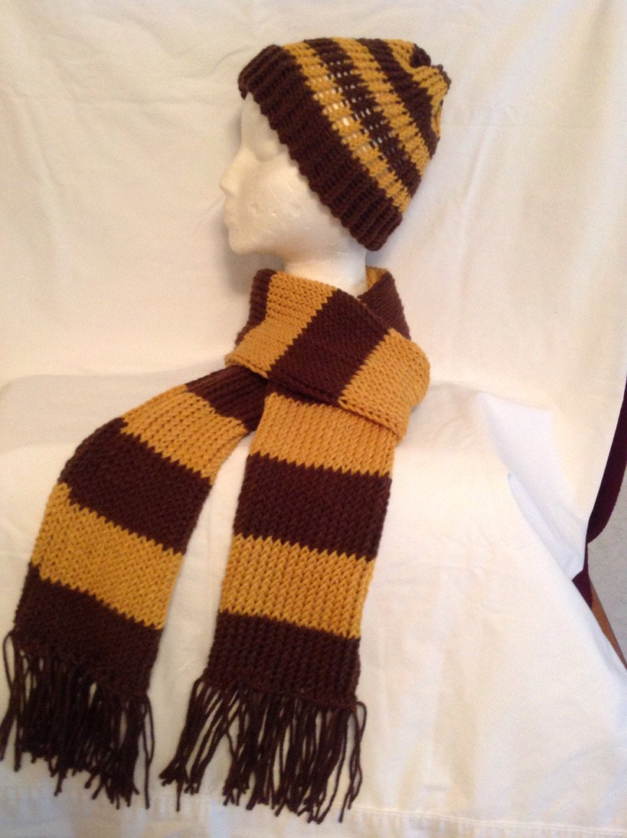 Loom Knitted  Hat & Scarf Set in Brown and Gold, New Handmade, Washable, Free Shipping, Teen/Adult Gift, Male/Female Gift, Made in USA  http:// tuppu.net/886d76c4     #YarnQueens #Etsy #MadeInUsa <br>http://pic.twitter.com/x5gWMSFoJR