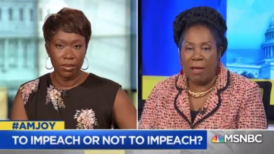 Rep. @JacksonLeeTX18: We have no particular desire to go after a president of the U.S. It is a sacred & somber responsibility but we cannot leave all of what has occurred in this administration on the table without doing our Article 1 duties & upholding the rule of law. #AMJoy https://t.co/JfKcoXWp3P