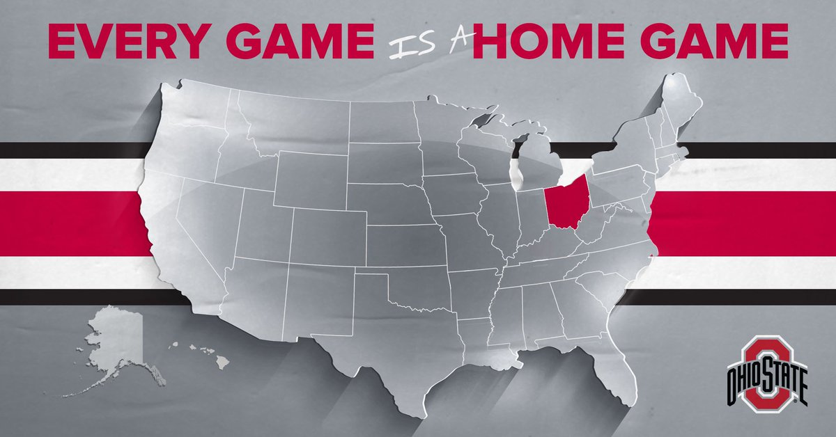 Eyes on the Buckeyes!  EVERY Game is a Home Game so where are you watching from?    Reply with your City & State! #GoBucks <br>http://pic.twitter.com/bigzhFmXOZ