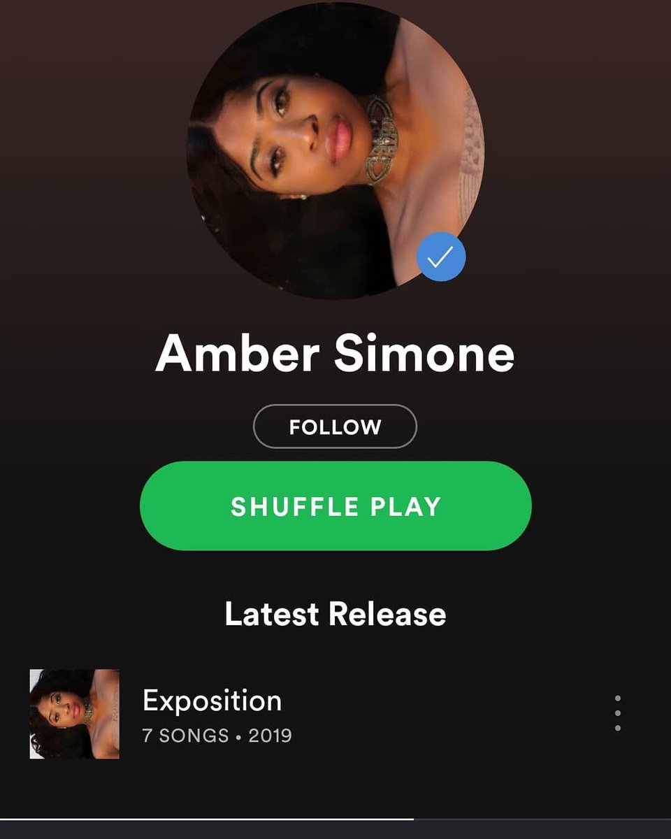 """The Real #AmberSimone // @Spotify Catch her on @WHOISCONWAY """"Look What I Became"""" Album/ Trk 9"""
