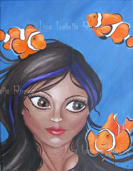 Three Friends ORIGINAL #PAINTING  http:// lisarusso.com/fantasyart/thr eefriends.htm   …  #Mermaid Gothic Fantasy Big Eye Eyed Brown Eyes Surreal Lowbrow #Mermaids #Sirens Black Clownfish Fish #mermaidart #MerMay #Paintings #LowbrowArt #FantasyArt Art + Prints & LE ACEO Prints Limited Edition Ed Print<br>http://pic.twitter.com/TPMbBnEWdr
