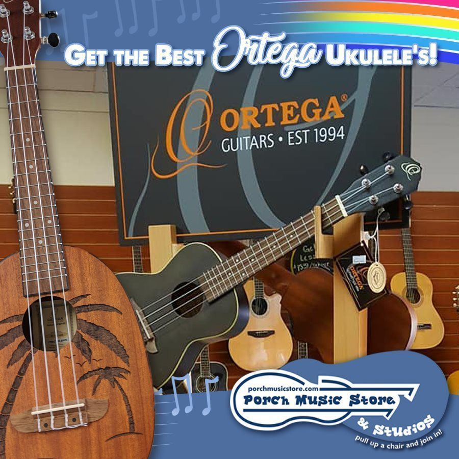 We have #Ortega #Ukuleles at #PorchMusicStore! We are located at 409-411 13th Street in downtown #FranklinPA. If you've always wanted to play a Ukulele, sign up for #musiclessons on our website:  http:// porchmusicstore.com       Get your Uke On! #musicstore #franklinpa #ukuleles<br>http://pic.twitter.com/JWRX3KNNeG