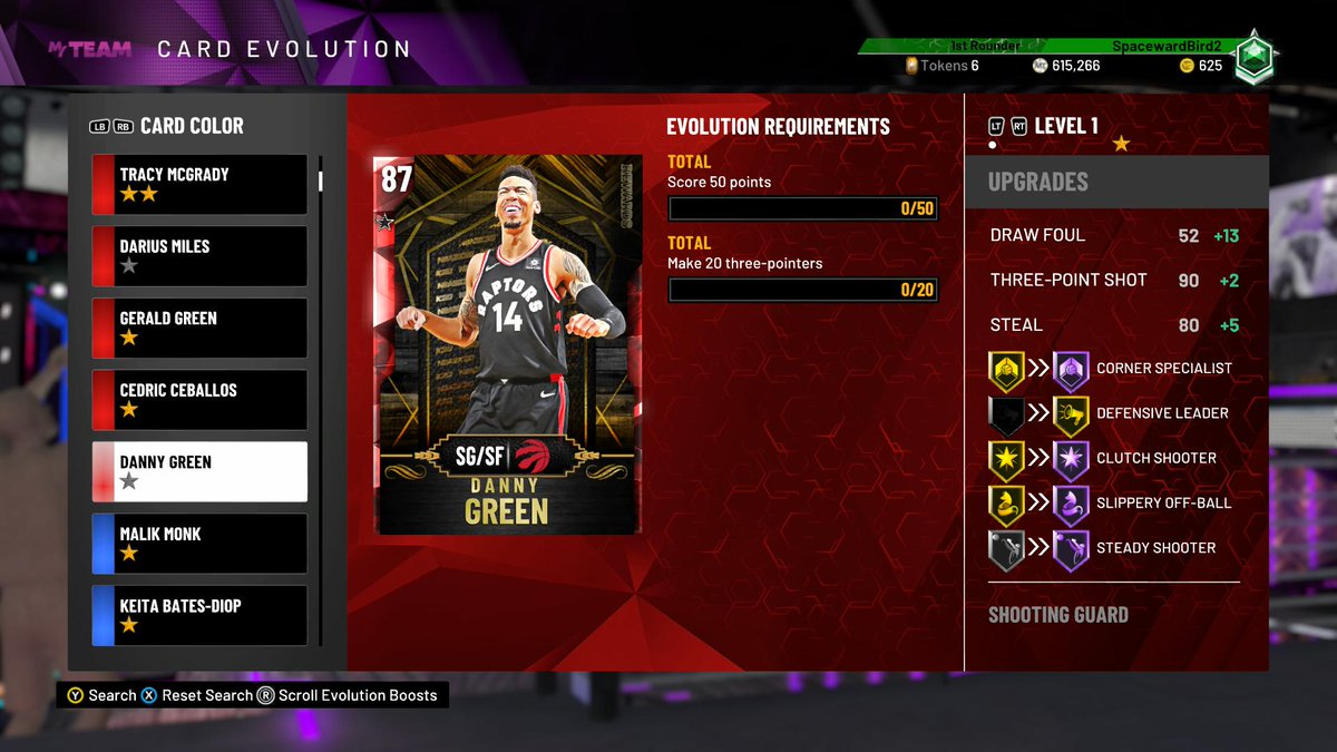 Spaceward Bird2 On Twitter Evo Danny Green Gets 4 Hof Badges And A 92 Open Three