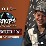 Image for the Tweet beginning: Isaac Wins Worlds! HeroClix World