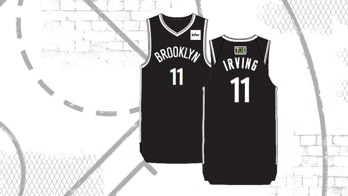Yeah, we didn't want to wait too long before dropping these ⬇️  We're giving away Kyrie Irving Replica Jerseys to the first 10,000 fans at our *second* game of the season, Friday, Oct. 25 vs. the Knicks, courtesy of @TGIOA   🎟 | http://brooklynnets.com/schedule?games=promo …